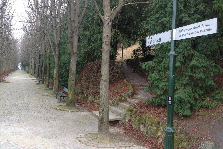 Il Viale dei Giusti nel Parco di Villa Genero