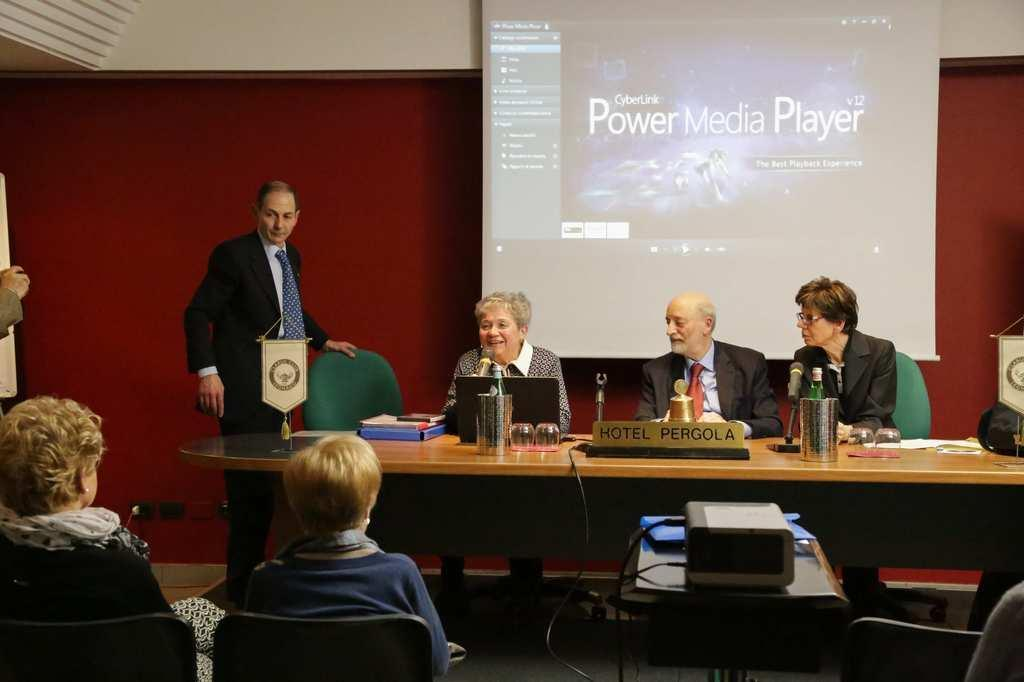Da sinistra: Sandro Marianella, Giuseppina Frattini, dott. Bruno Carmi e Margherita Ferrari