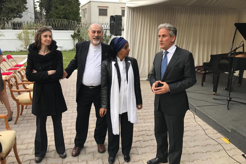 Gaetano Liguori, la Giusta Alganesh Fessaha e l'Ambasciatore italiano a Tunisi Raimondo de Cardona