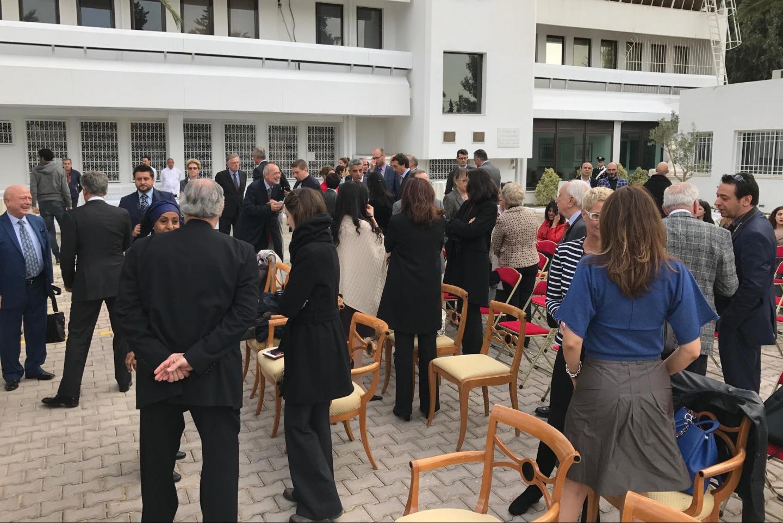 La cerimonia presso l'ambasciata italiana a Tunisi