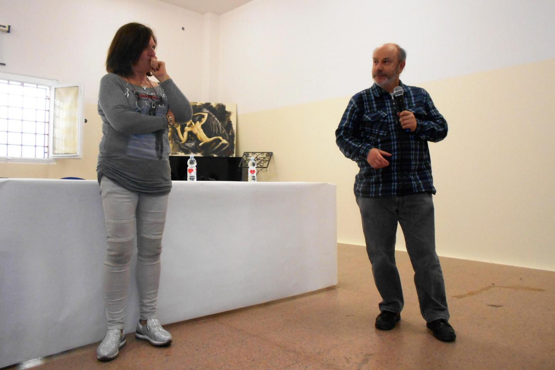 Roberta Miotto e il Dott. Fabio Lopez, figlio del salvato Guido Lopez