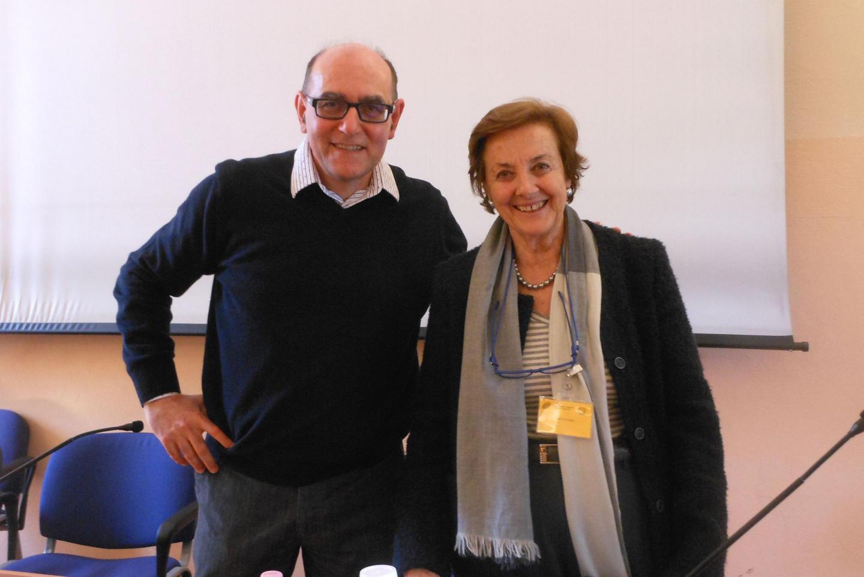 Il professor Carmelo Valentini e Anna Maria Samuelli