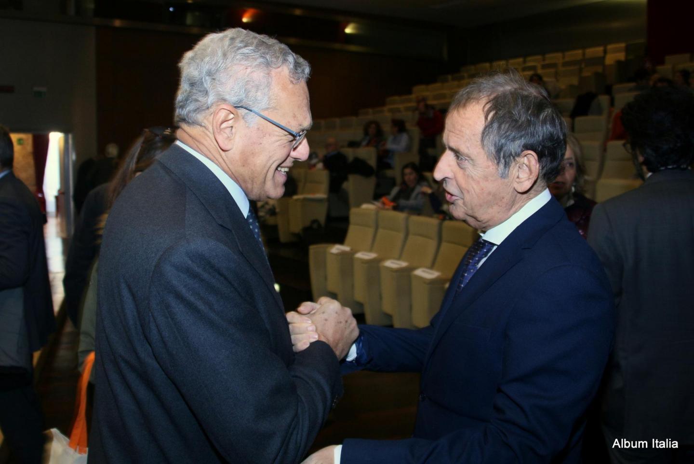 Roberto Jarach, vicepresidente Fondazione Memoriale Shoah con Gustavo Adolfo Cioppa