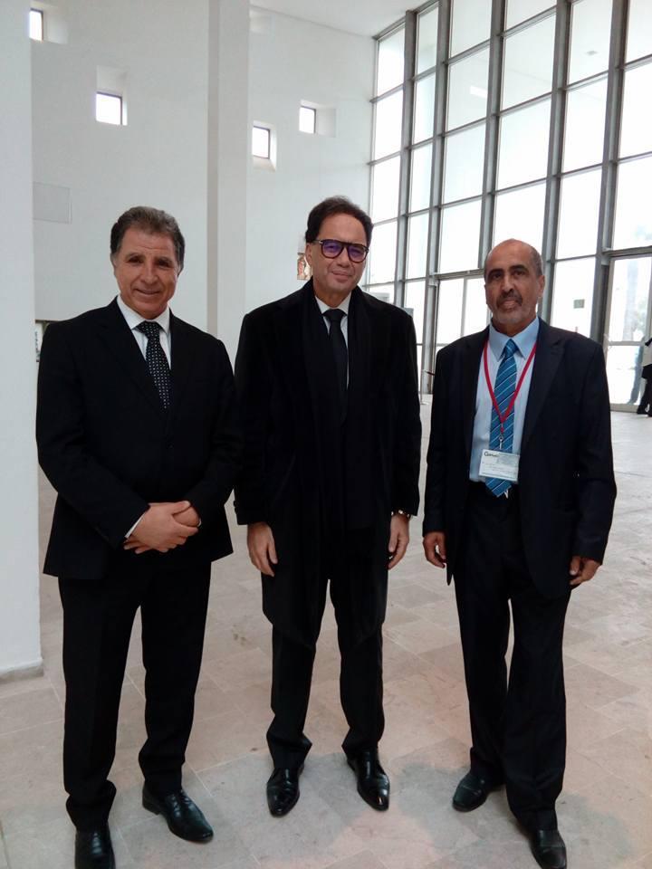 Il Direttore del Museo del Bardo Moncef Ben Moussa con il Ministro della Cultura Tunisino Mohamed Zine El Abidine e il Giusto Hamadi