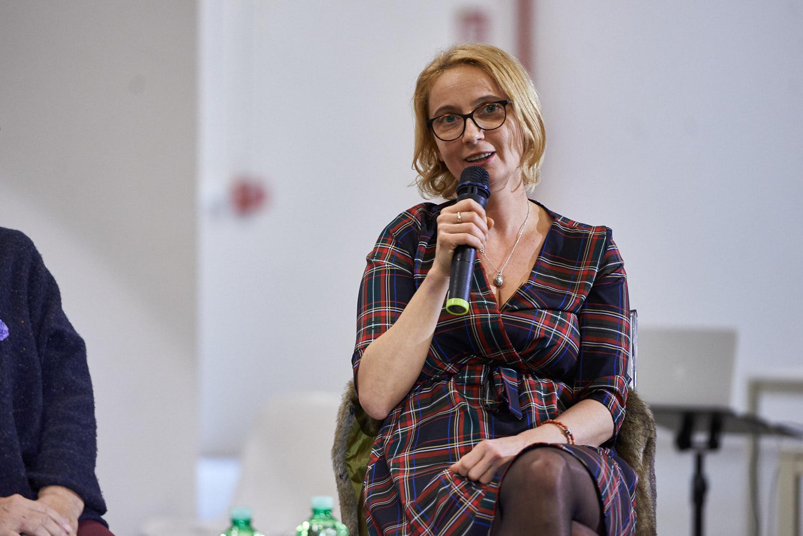 Anna Ziarkowska, responsabile educazione della Casa degli incontri con la storia di Varsavia