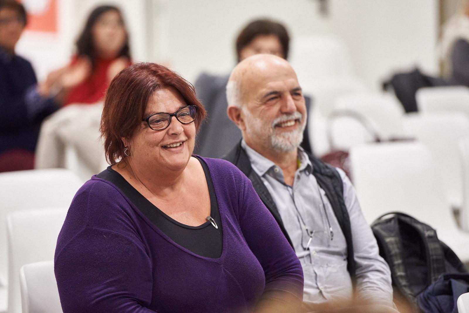 la Giusta Daphne Vloumidi e il marito Iannis Troumpounis