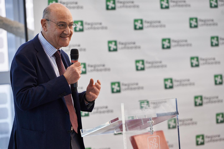 il presidente di Gariwo Gabriele Nissim a Palazzo Lombardia per i Giusti