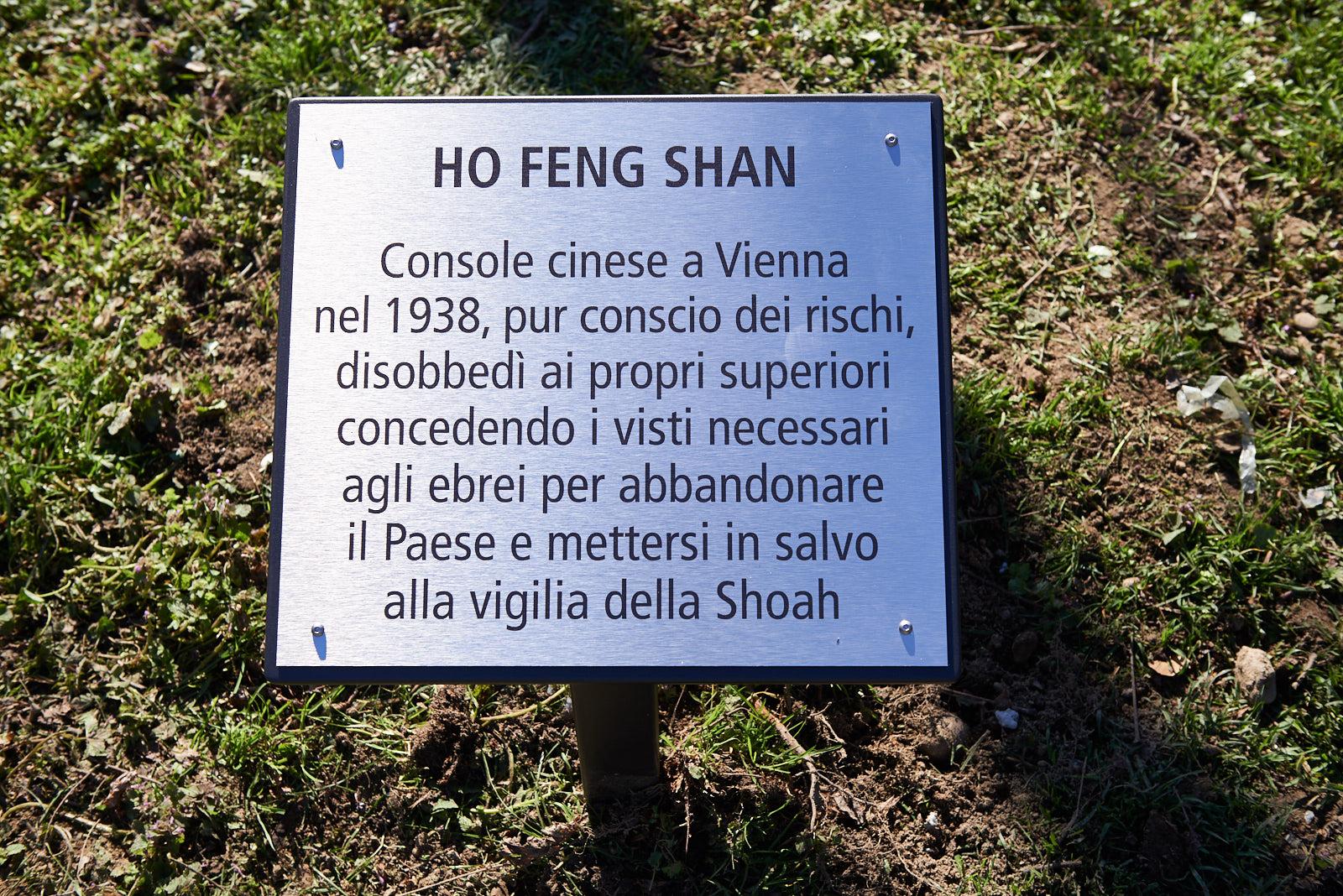 Targa per Ho Feng Shan