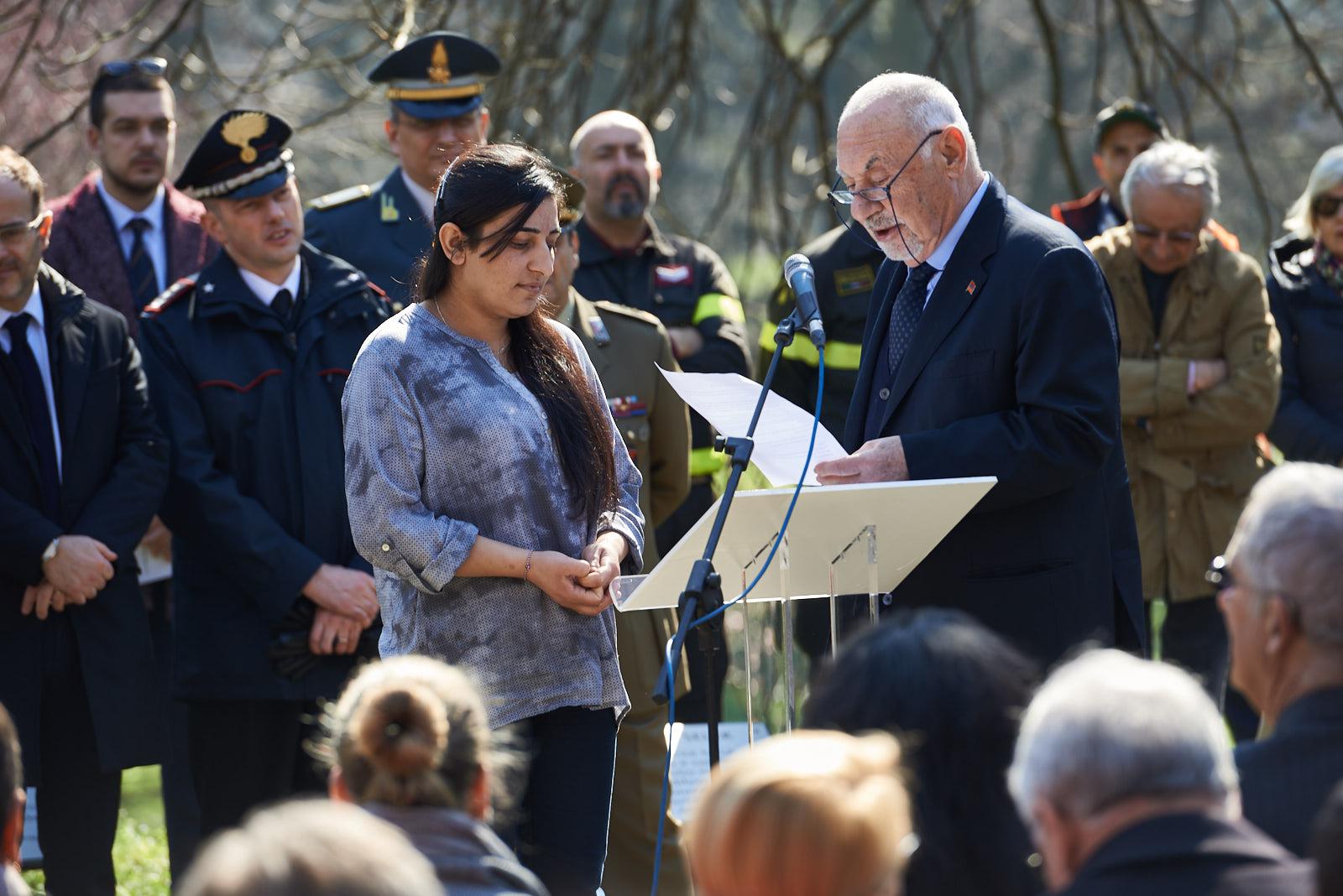 Il Console armeno e Co-fondatore di Gariwo Pietro Kuciukian presenta Farida Abbas