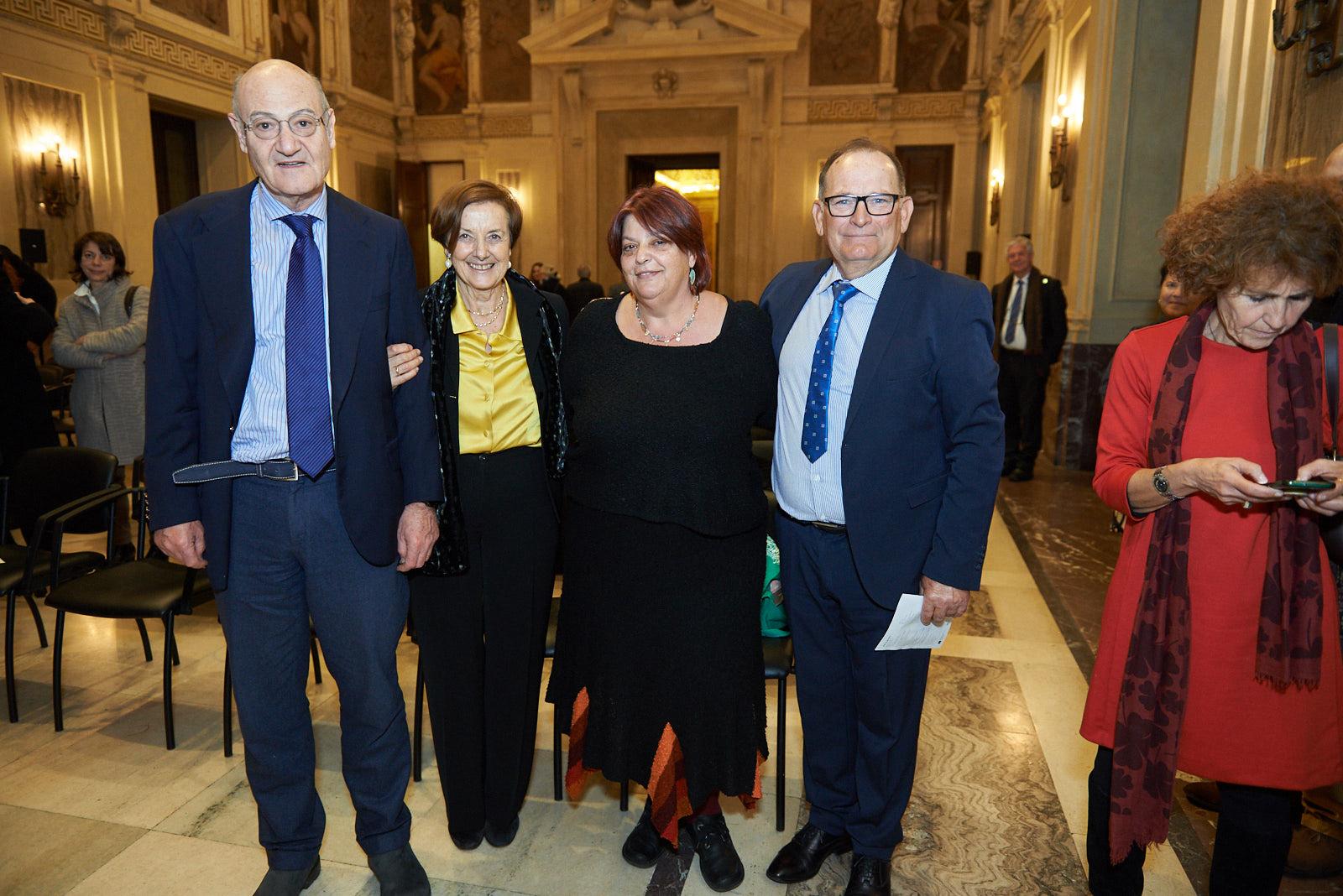Gabriele Nissim, Annamaria Samuelli, Daphne Vloumidi e Costantino Baratta