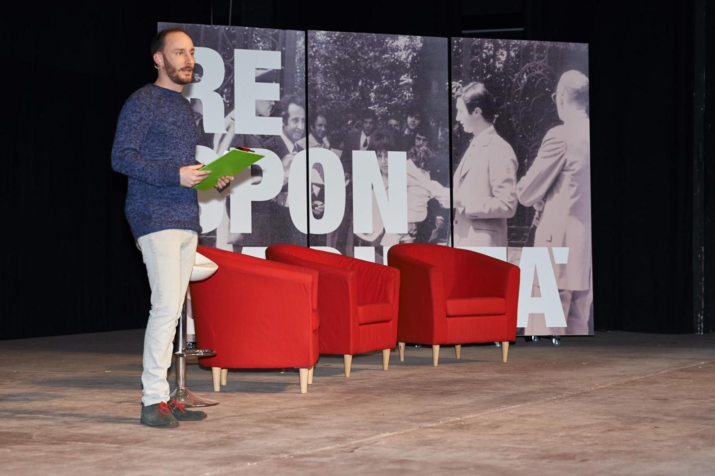 Enrico Pittaluga, il presentatore dell'evento.
