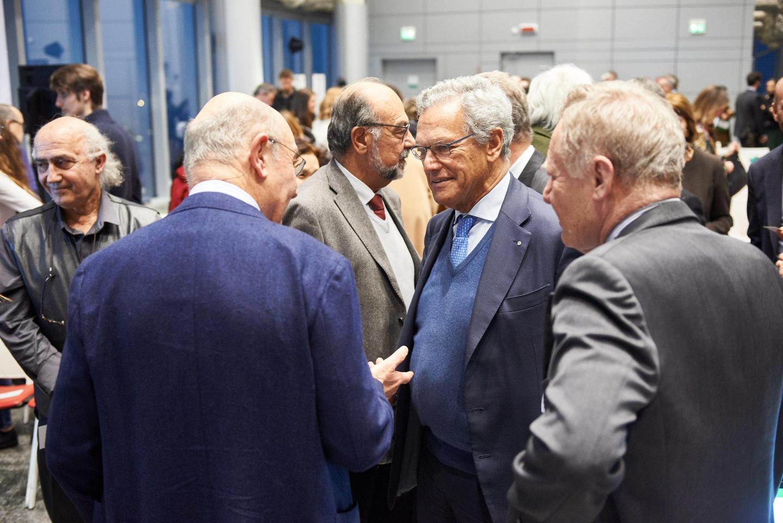 Gabriele Nissim con Roberto Jarach,  vicepresidente della Fondazione Memoriale della Shoah di Milano