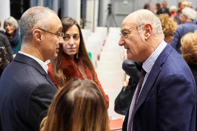 Gabriele Nissim e il dottor Salvatore Badalamenti dell'Ospedale Humanitas