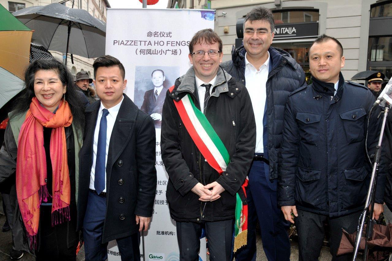 Ho Manli, Luca Sheng Son, Filippo del Corno, Emanuele Fiano e Francesco Wu