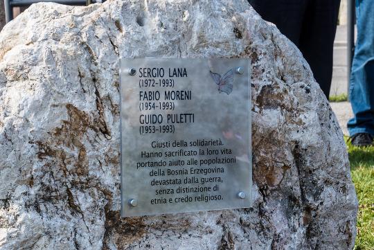 Una targa per Sergio Lana, Fabio Moreni, Giudo Puletti