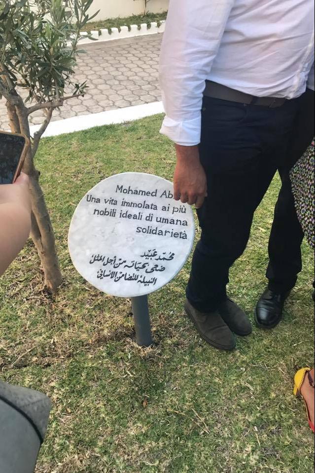 la targa per Mohamed Abid