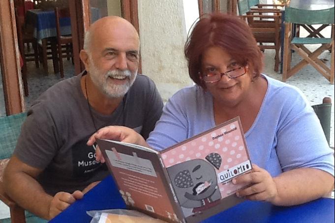 Hotel Votsala, Daphne Vloumidi e il marito Iannis Troumpounis