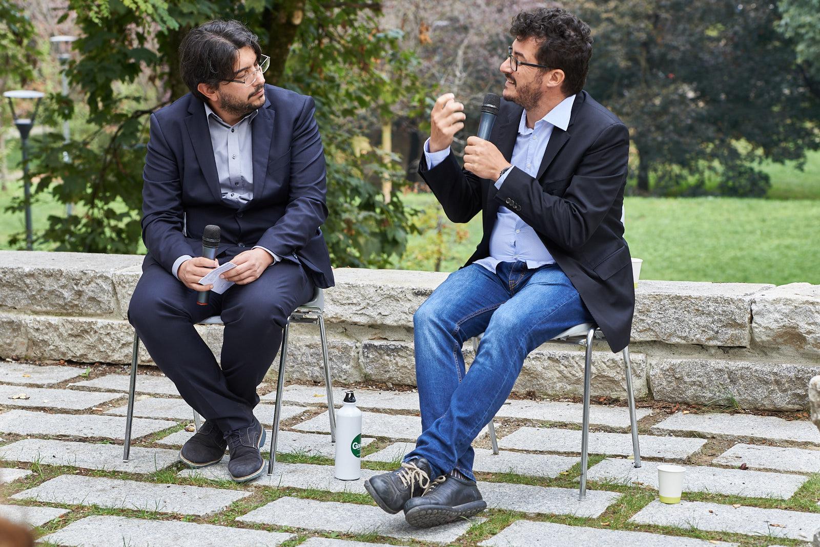 Simone Zoppellaro ed Emanuele Bompan, giornalista ambientale e geografo