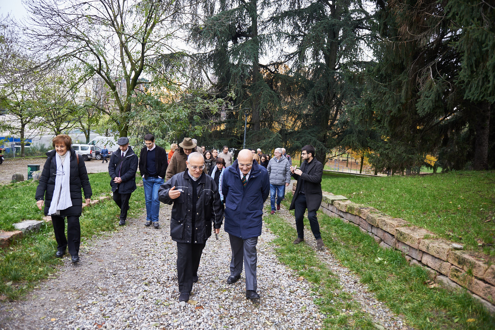 Gabriele Albertini con Padre Raad, dal Giardino dei Giusti del Libano