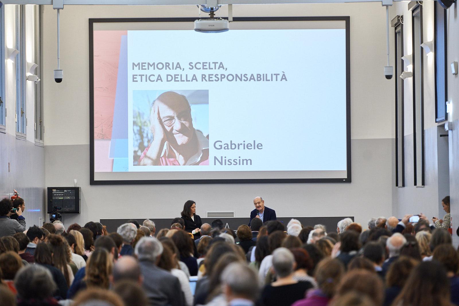 """L'intervento di Gabriele Nissim, presidente di Gariwo, su """"Memoria, scelta, etica della responsabilità"""""""