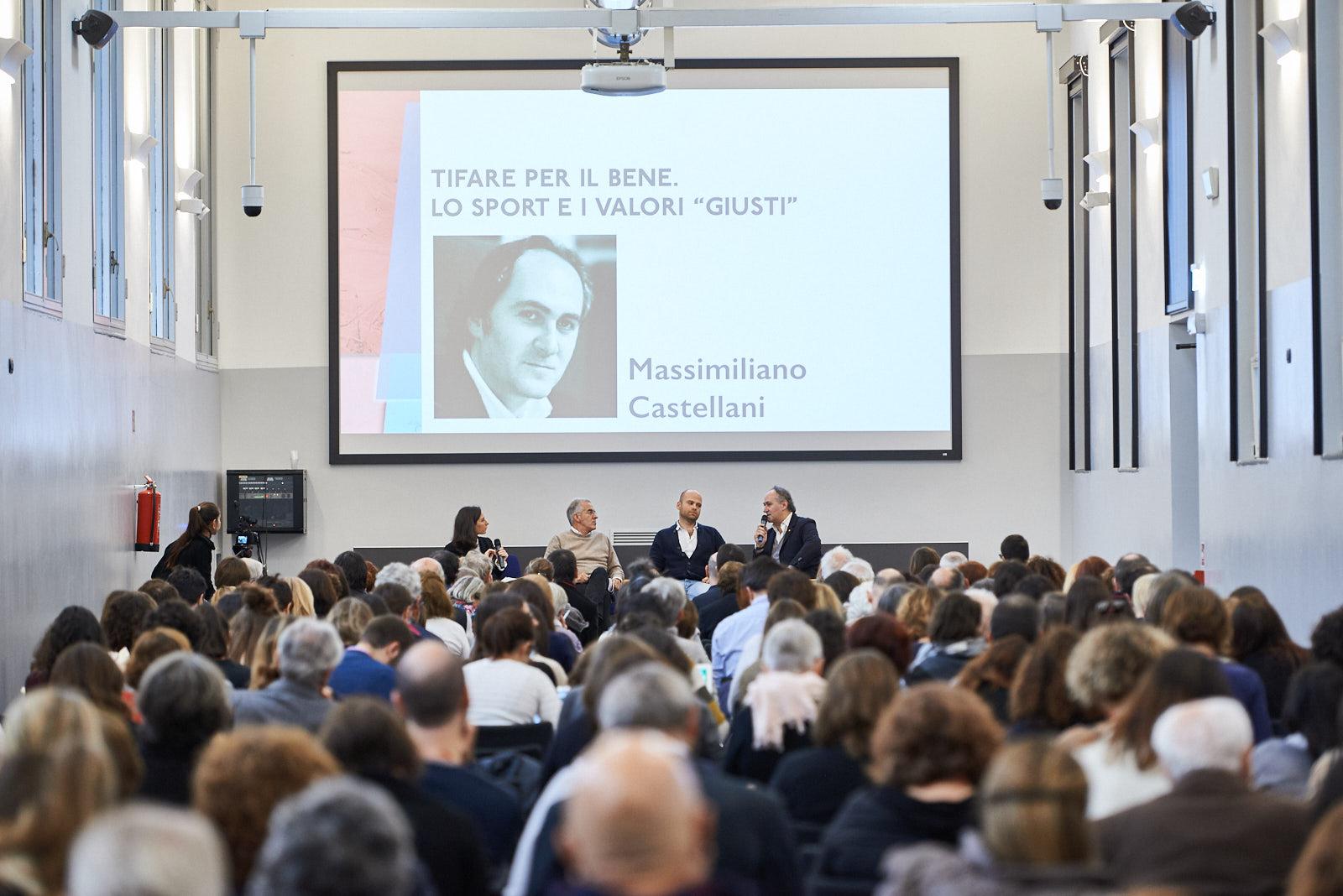 Il panel dedicato allo sport, con Massimiliano Castellani, Adam Smulevich e Marco Marchei