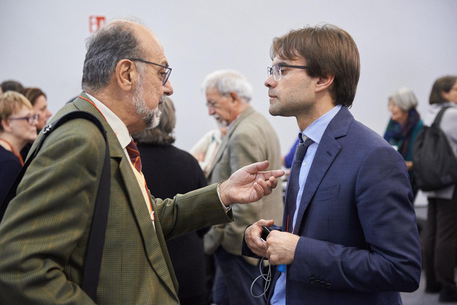 Giorgio Mortara, vice-presidente UCEI, con Stefano Pasta, giornalista e ricercatore presso il CREMIT