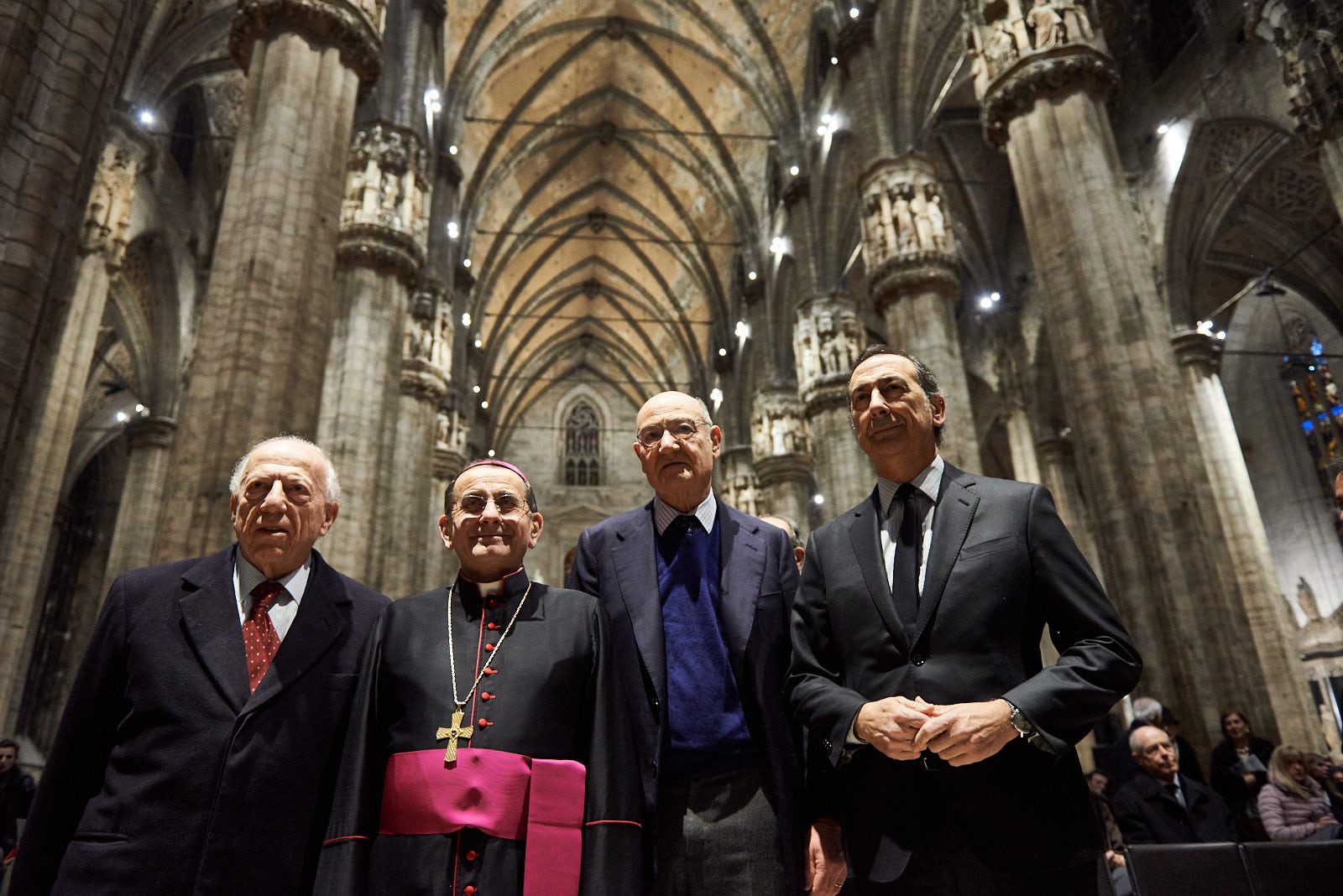 Fedele Confalonieri, Mons. Mario Delpini, Gabriele Nissim e Giuseppe Sala