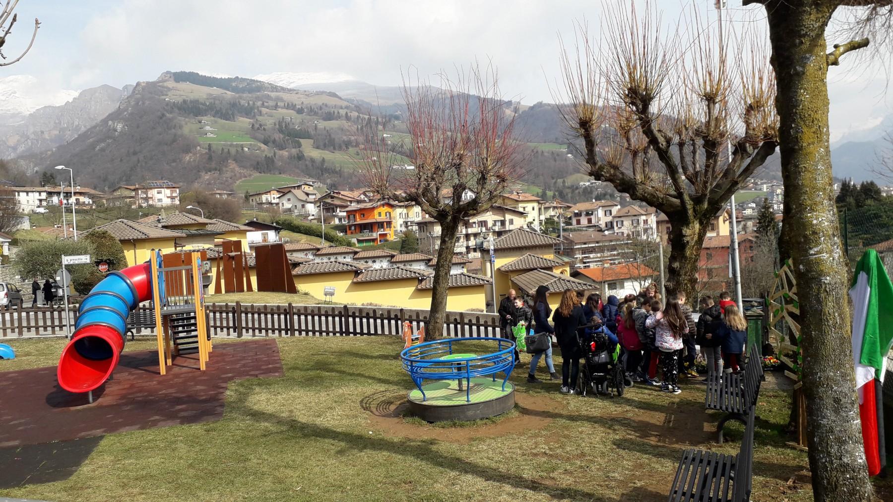 un nuovo Giardino al Parco Giardini di Via Don Antonio Seghezzi a Premolo