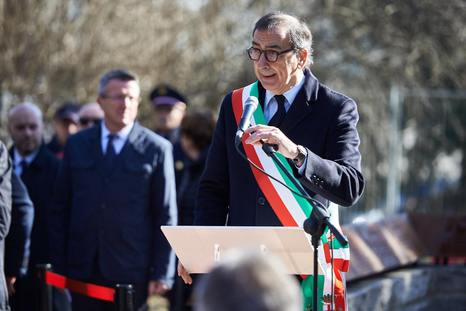 Il sindaco di Milano Giuseppe Sala, presidente dell'Associazione per il Giardino dei Giusti