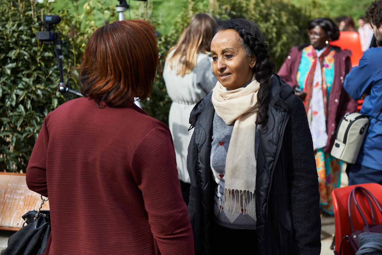 La Giusta Alganesh Fessaha con Christine Amisi