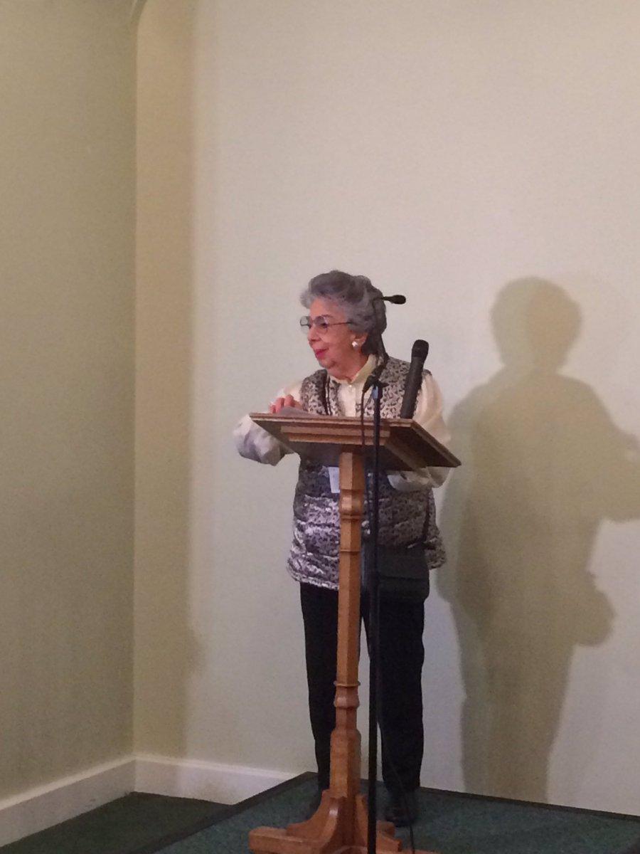 la sopravvissuta all'Olocausto Lili Pohlman parla alla Giornata dei Giusti nell'Houses of Parliament di Londra, organizzato con l'Ambasciata della Repubblica di Polonia a Londra e l'associazione Learning from the Righteous