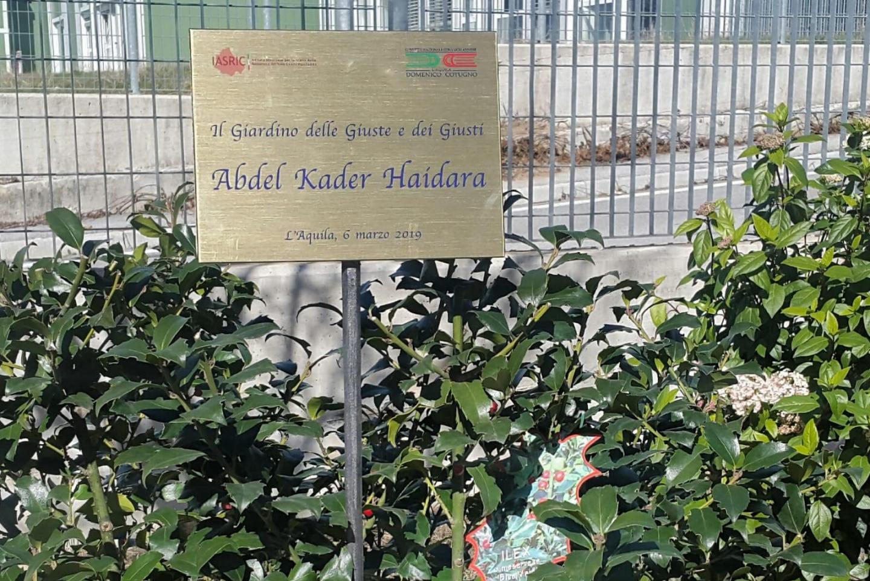 La targa per Abdel Kader Haidara