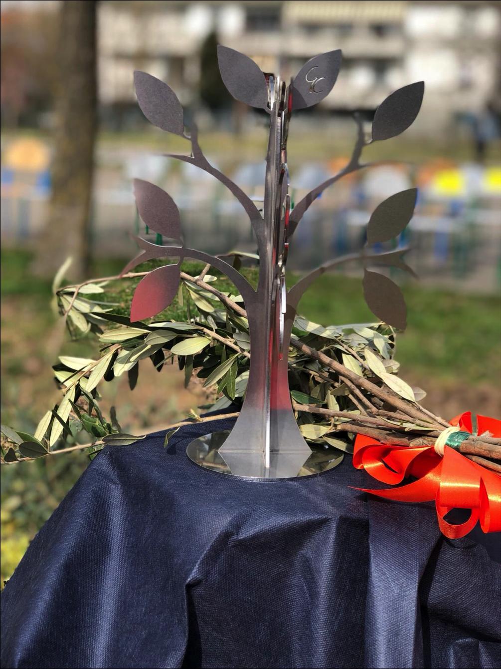 Prototipo dell'Albero dei Giusti realizzato da Cavaliere Atelier