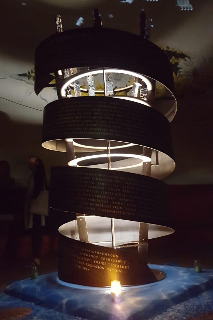 Il monumento illuminato