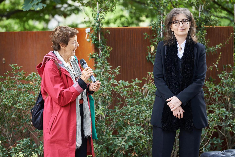 Anna Maria Samuelli, co-fondatrice di Gariwo, con Ani Martirosyan