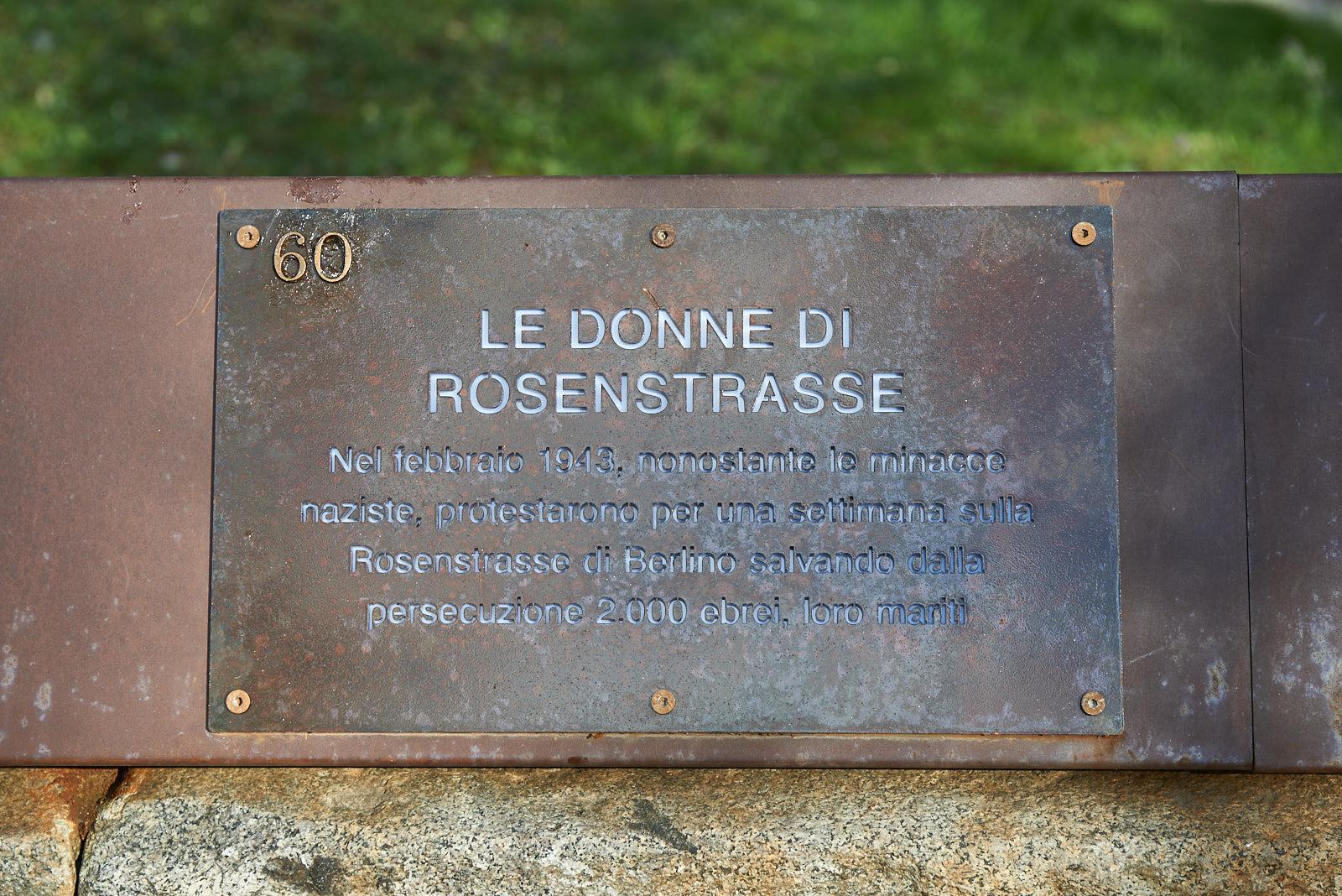 Targa dedicata alle donne di Rosenstrasse