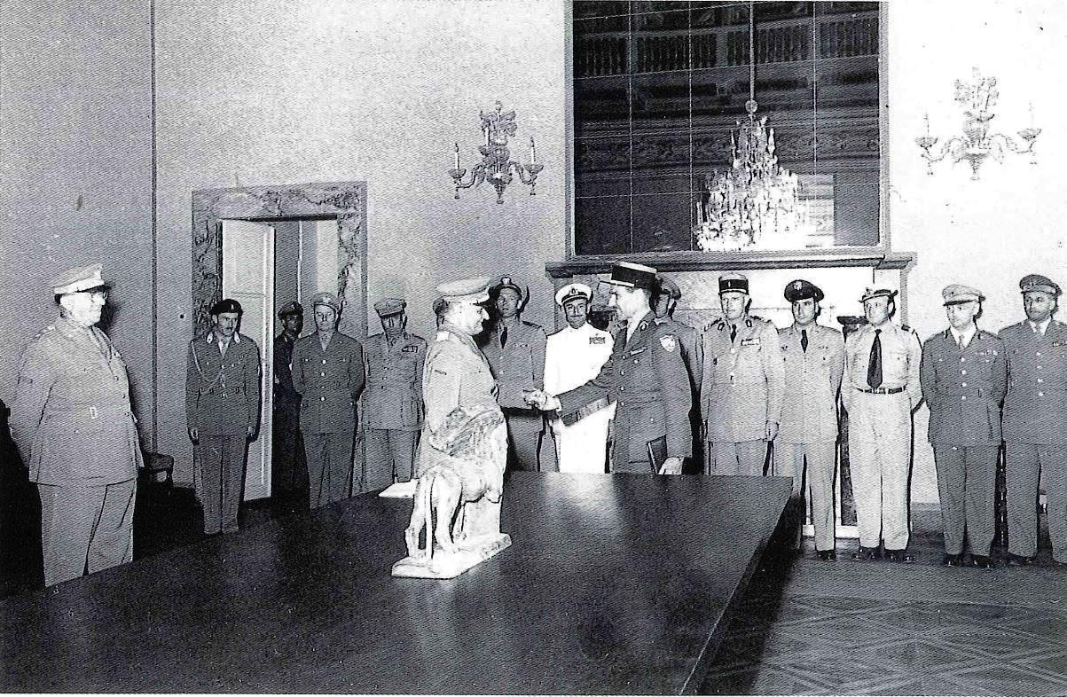 Il Gen. de' castiglioni nel 1951, a Palazzo Carli a Verona