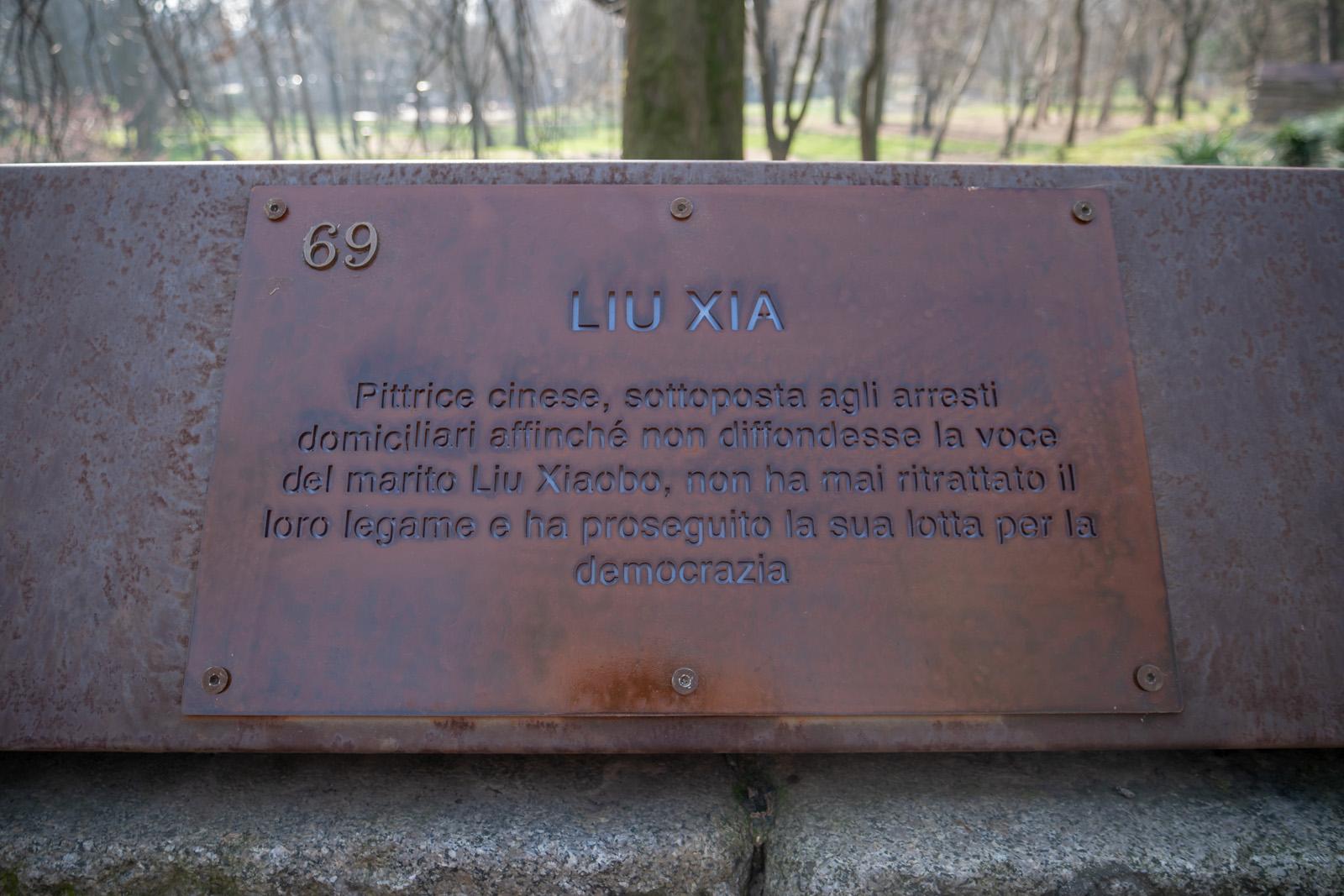 La targa per Liu Xia