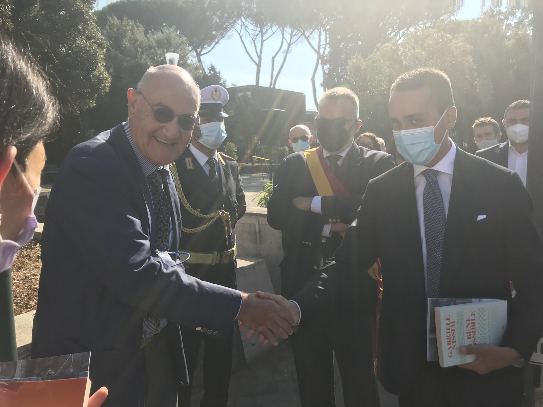 Gabriele Nissim con il ministro degli Affari Esteri e della Cooperazione Internazionale Luigi Di Maio