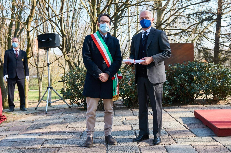 Lamberto Bertolé e Nicolò de Castigioni, nipote di Maurizio Lazzaro de Castiglioni