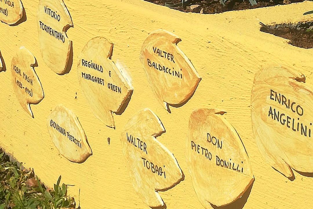 La fondazione Valter Baldaccini ricorda Valter Baldaccini onorato al Giardino dei Giusti di Trevi