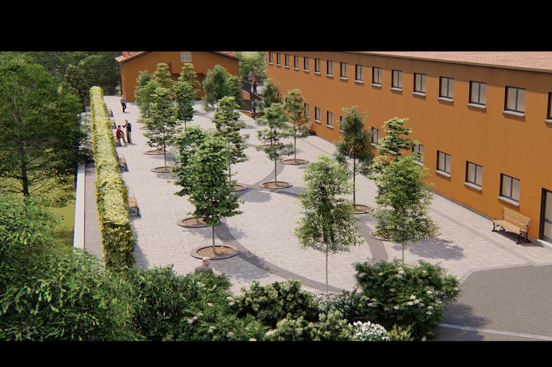 Il progetto di come sarà il Giardino della Comunità di San Patrignano