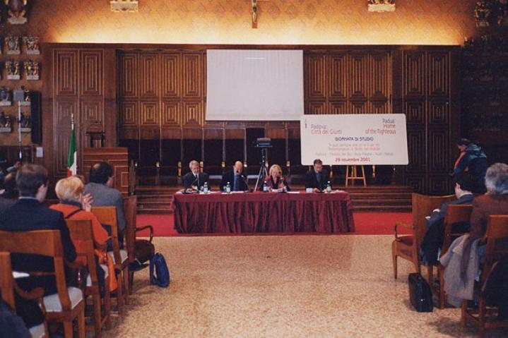 L'aula Magna durante la premiazione del mattino