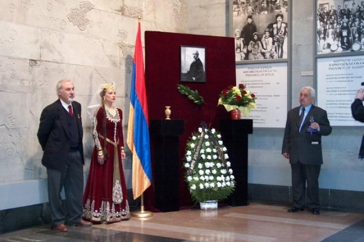 Cerimonia al Museo del Genocidio
