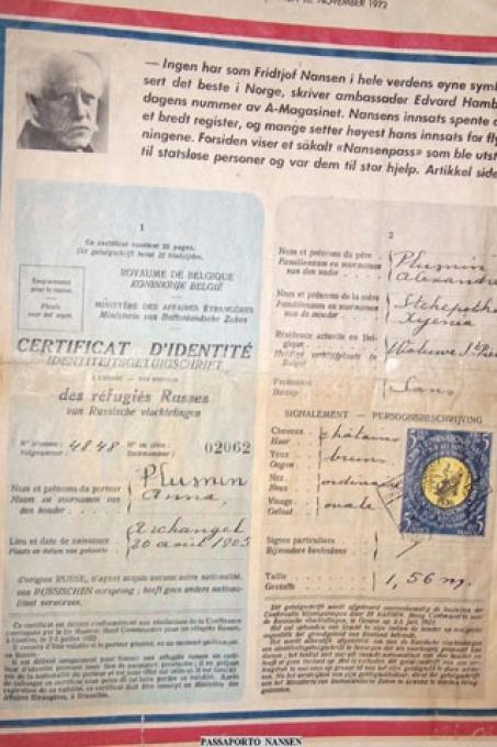 """Il cosiddetto """"Passaporto Nansen"""""""