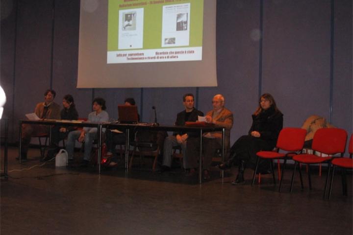 26.1.2008, Mirano (VE), incontro con gli studenti dei Licei, Auditorium Interistituti