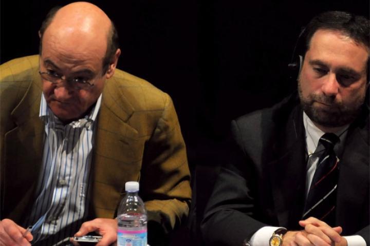 Satloff ascolta l'intervento di Nissim