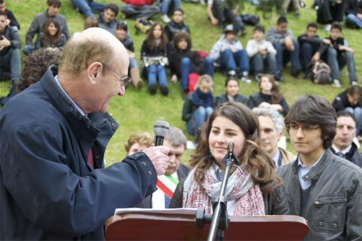 Gli studenti del Liceo Volta Michela Morenzetti e Antonio Meomartino
