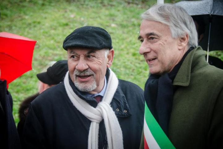 Pietro Kuciukian, console onorario d'Armenia, e Giuliano Pisapia, sindaco di Milano