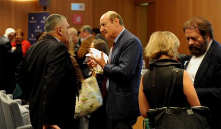 Gabriele Nissim con il console bulgaro Garbis Agopian